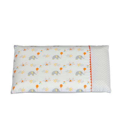 clevamama white elephants clevafoam® baby pillow case