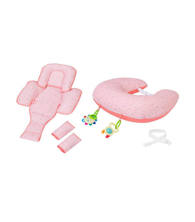 clevamom coral clevacushion™ nursing pillow & baby nest