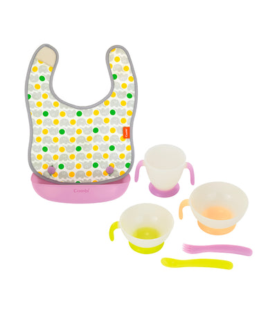 combi easy-clean apron and tableware set