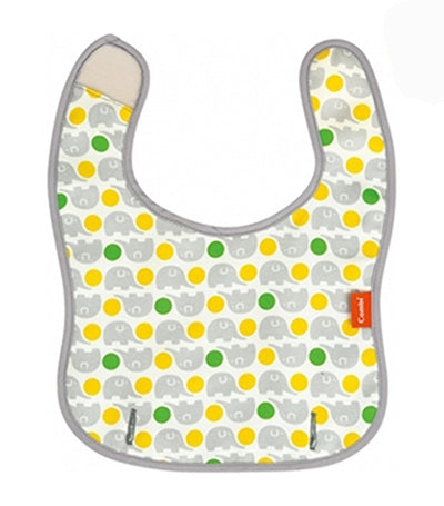 combi yellow baby label easy clean handy bib