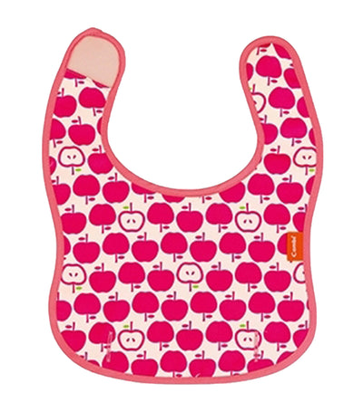 combi pink baby label easy clean handy bib