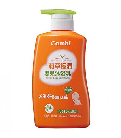 combi herbal baby body wash 500ml