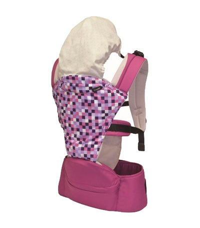 combi purple foldable hip seat carrier