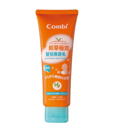 combi herbal baby liquid powder 120ml