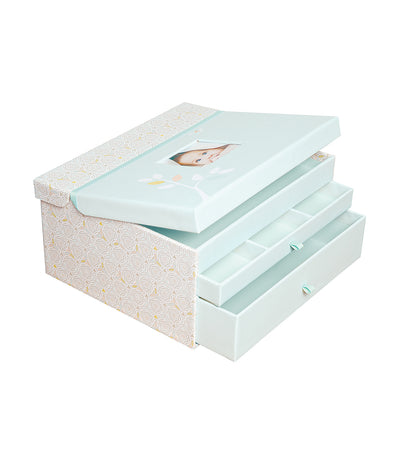 c.r. gibson linen tree baby keepsake chest
