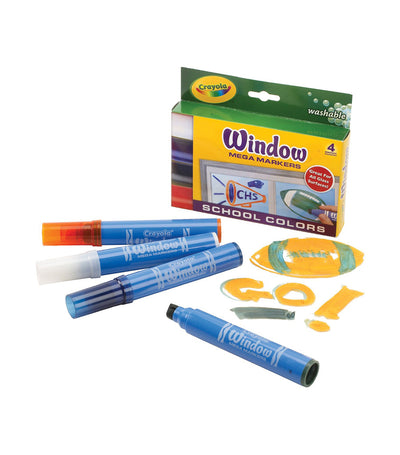 crayola washable window markers 4 count primary