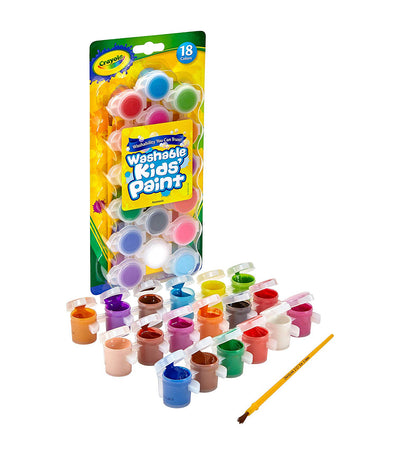 crayola washable kids paint 18 count