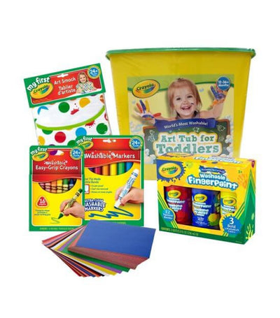 crayola my first art tub for toddlers