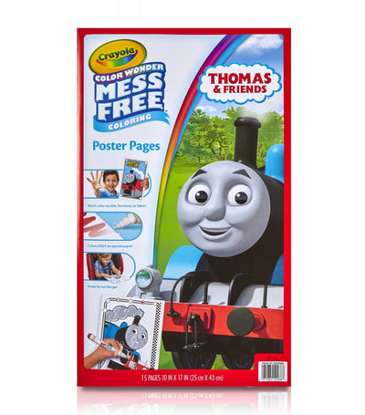 crayola color wonder poster pages thomas and friends