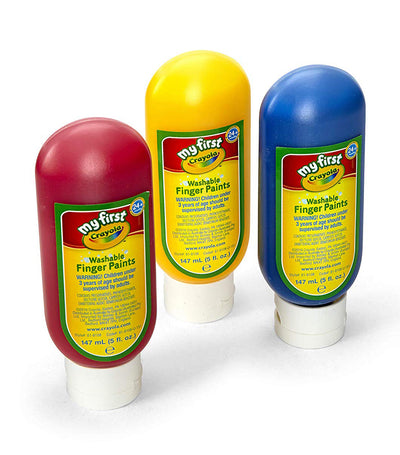 crayola my first washable finger paints 3 count primary