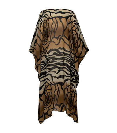 criselda kaftan printed maxi dress brown