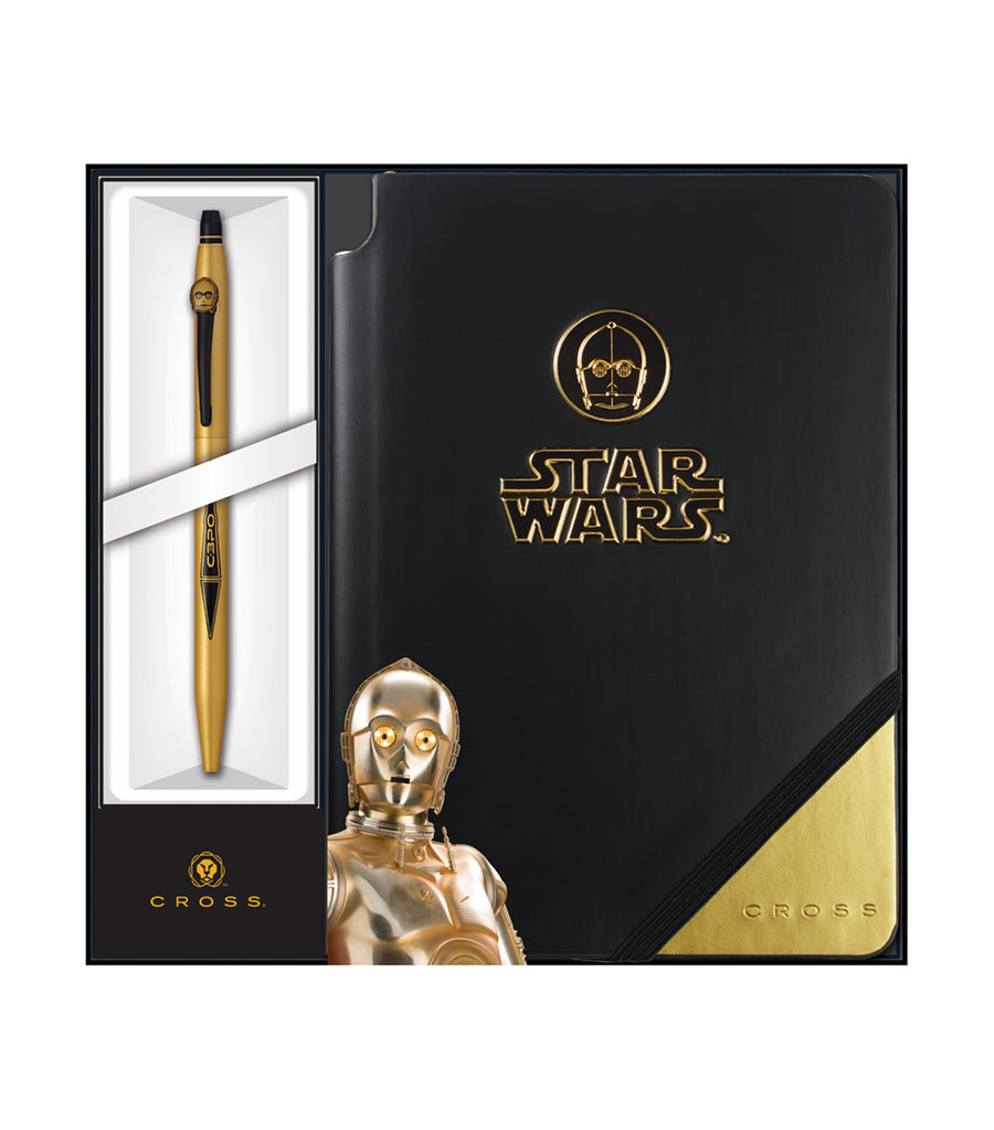 cross click gel ink pen and jotzone star wars® c-3po gift set