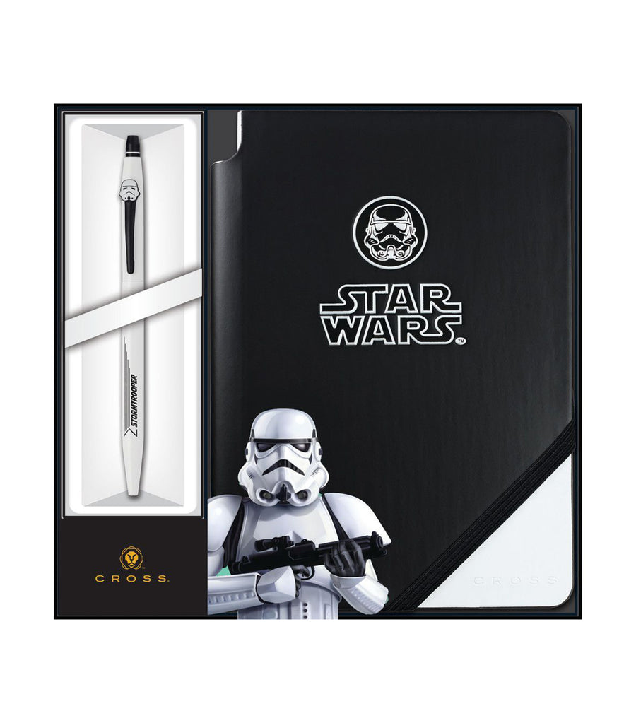 cross click gel ink pen and jotzone star wars® storm trooper gift set
