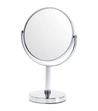 danielle creations silver midi chrome vanity mirror with five times magnification