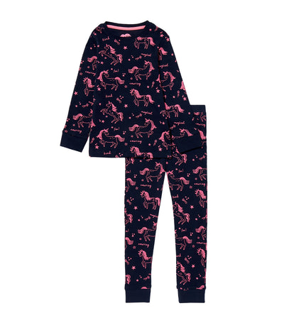 debenhams navy bluezoo unicorn print twosie for girls