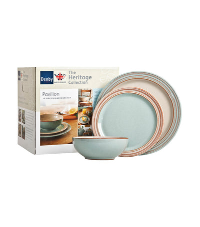 denby heritage pavilion 12-piece tableware set