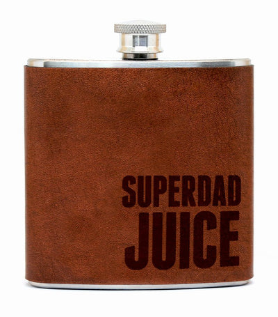 discovery shop imported espacio handmade superdad juice – leather flask