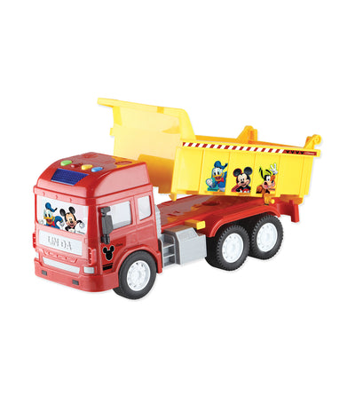 disney red mickey mouse dump truck