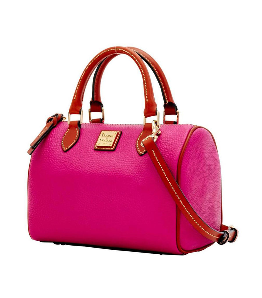 dooney & bourke pebble grain trudy satchel magenta