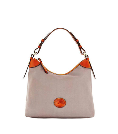 dooney & bourke large erica nylon tote gray