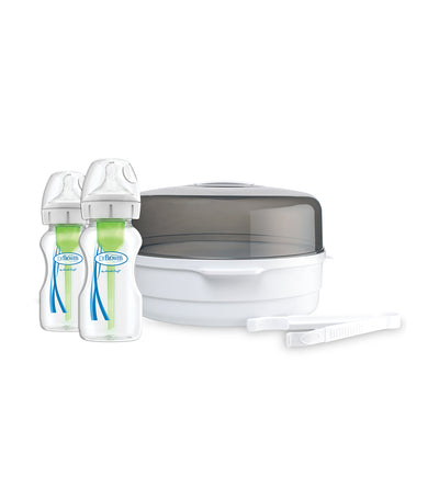 dr. brown's options+ anti-colic bottle microwave sterilizer
