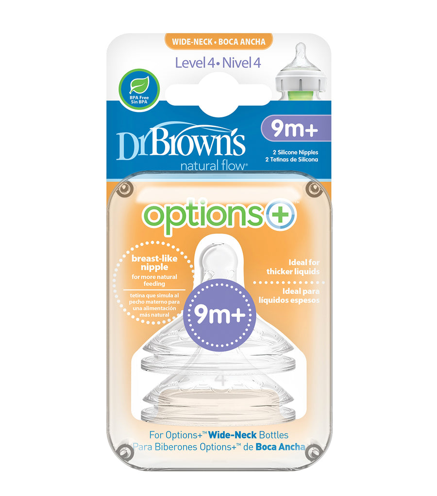 dr. brown's natural flow® options+™ level 4 wide-neck nipple