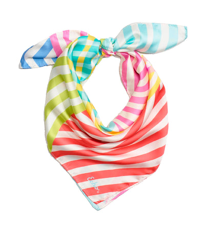 echo colorful stripe square scarf multi