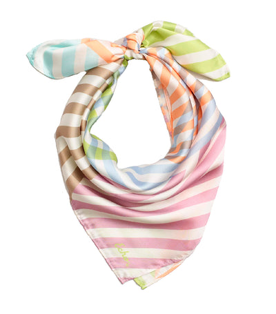 echo colorful stripe square scarf sky