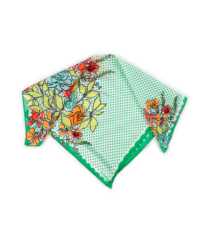 echo coastal floral bandana green