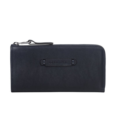 3D Zip-Around Wallet Midnight Blue