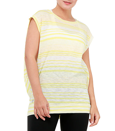 atsui eriko layer top yellow with white stripes