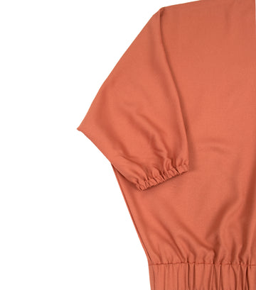 lady rustan marley long-sleeved v-neck blouse rust