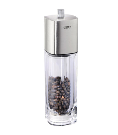 gefu two-piece dueto salt and pepper mill set