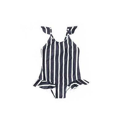 mommy hugs girls one piece swimsuit - classic stripes