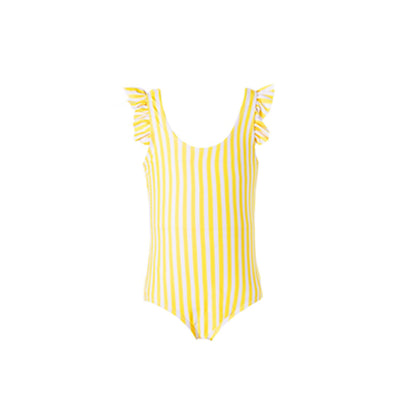 mommy hugs girls one piece swimsuit - mellow yellow