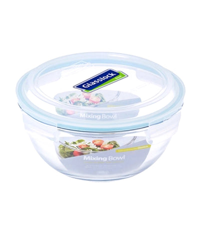 glasslock clear mixing bowl food keeper - 1000ml