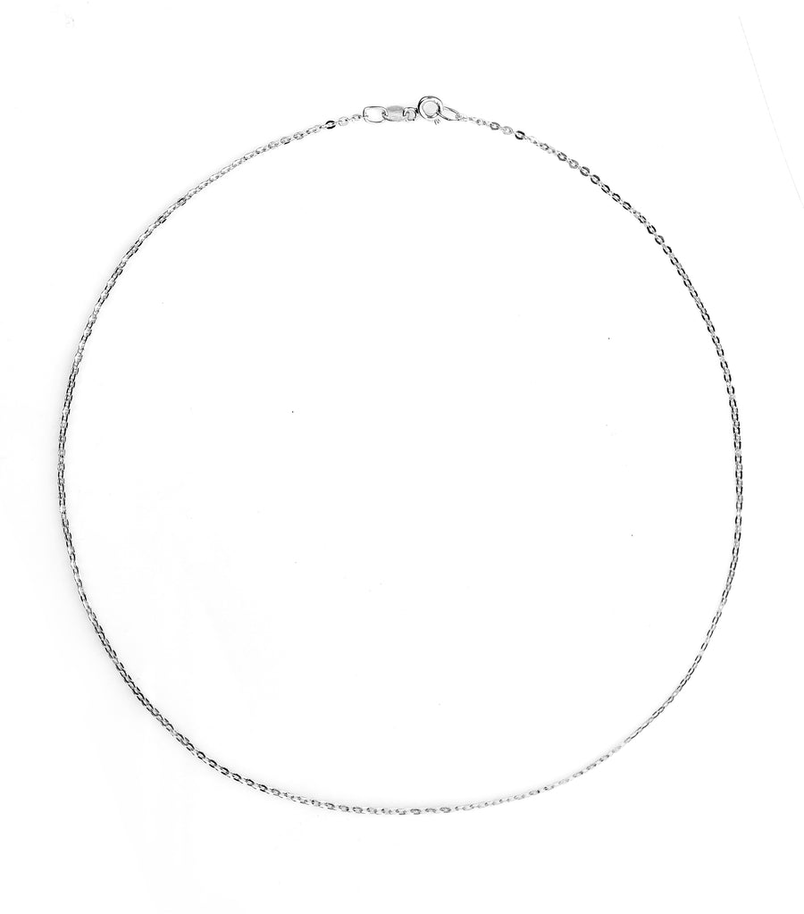 gold jewelry 18k white gold brilliant chain 40cm necklace