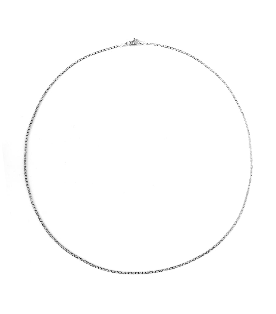 gold jewelry 18k white gold traver chain 50cm necklace