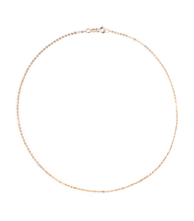 gold jewelry 18k yellow gold brilliant chain 40cm necklace