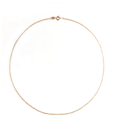 gold jewelry 18k yellow gold rolo diamond chain 40cm necklace