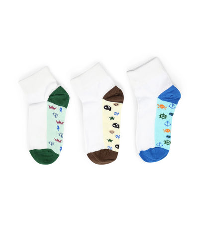 goldtoe kids boys quarter socks pirates collection (set of 3)