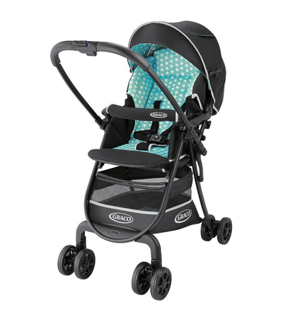 graco turquoise star white citilite r up stroller