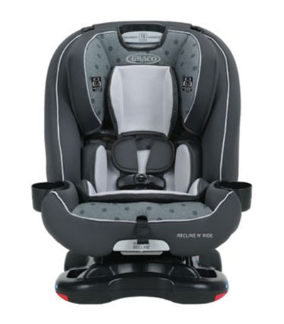 graco gray recline n' ride™ 3-in-1 car seat featuring on the go recline