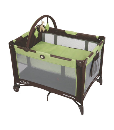 graco go green pack 'n play® on the go™ playard with folding bassinet