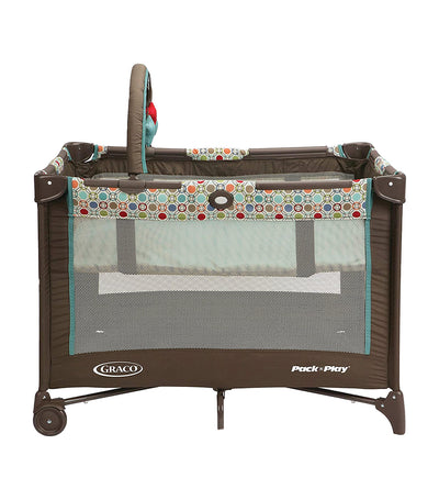 graco twister pack 'n play® on the go™ playard with folding bassinet
