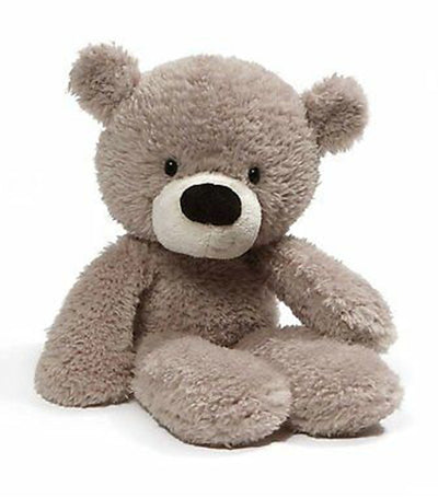 gund gray fuzzy bear - 13.5""
