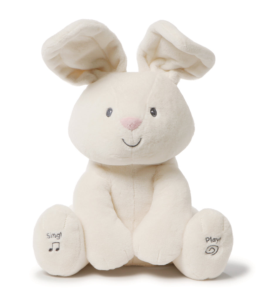 gund white flora the animated bunny - 12""