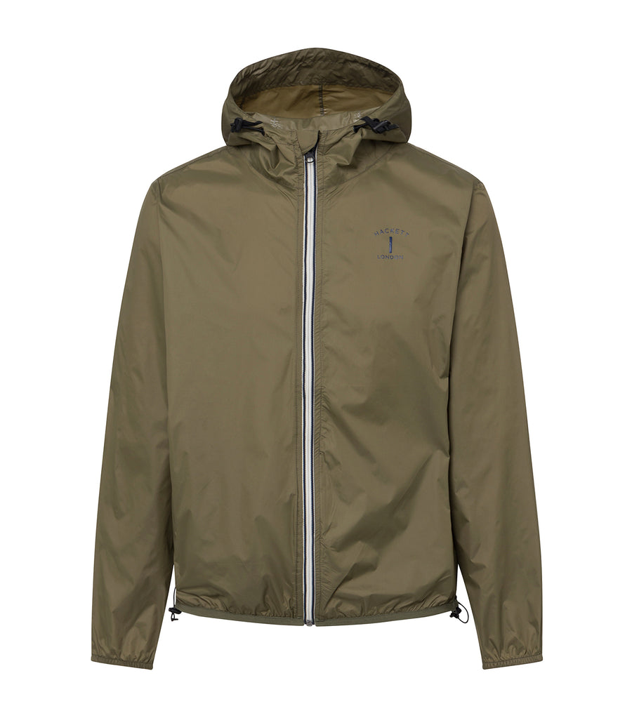 hackett mr classic packable jacket olive