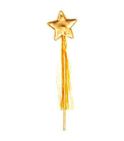 halloween gold party star wand with tassel