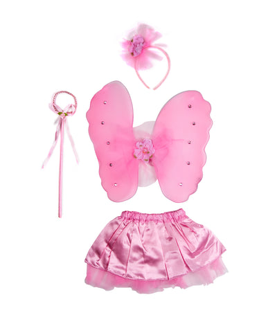 halloween flower fairy princess wing set (6-9 years old)